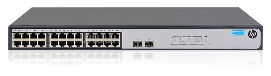 HP 24port GbE LAN 2xSFP nem medzselhető Switch