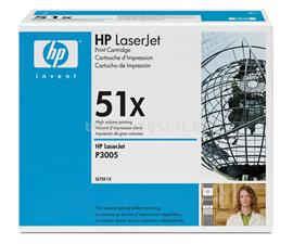 HP LaserJet Q7551X Black Print Cartridge, Q7551X
