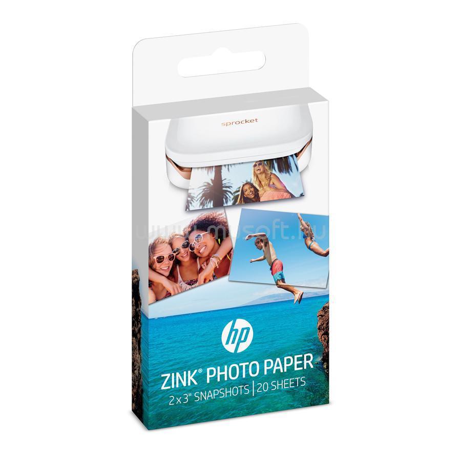 HP ZINK Sprocket Fotópapír 5x7,6cm (öntapadós) - 20 db