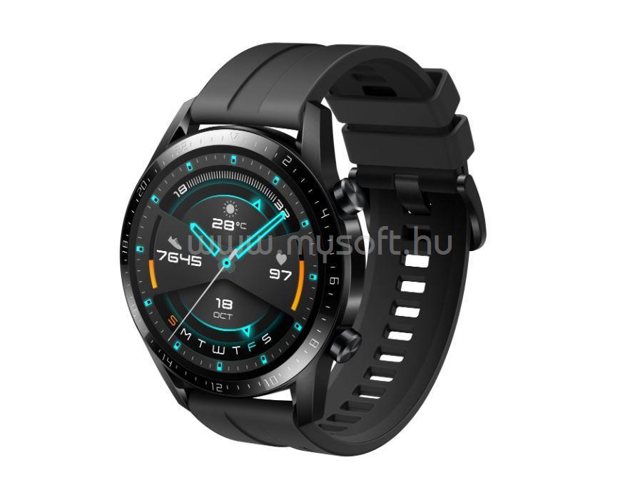 HUAWEI Watch GT 2 Sport (46 mm) fekete szilikon szíjjal