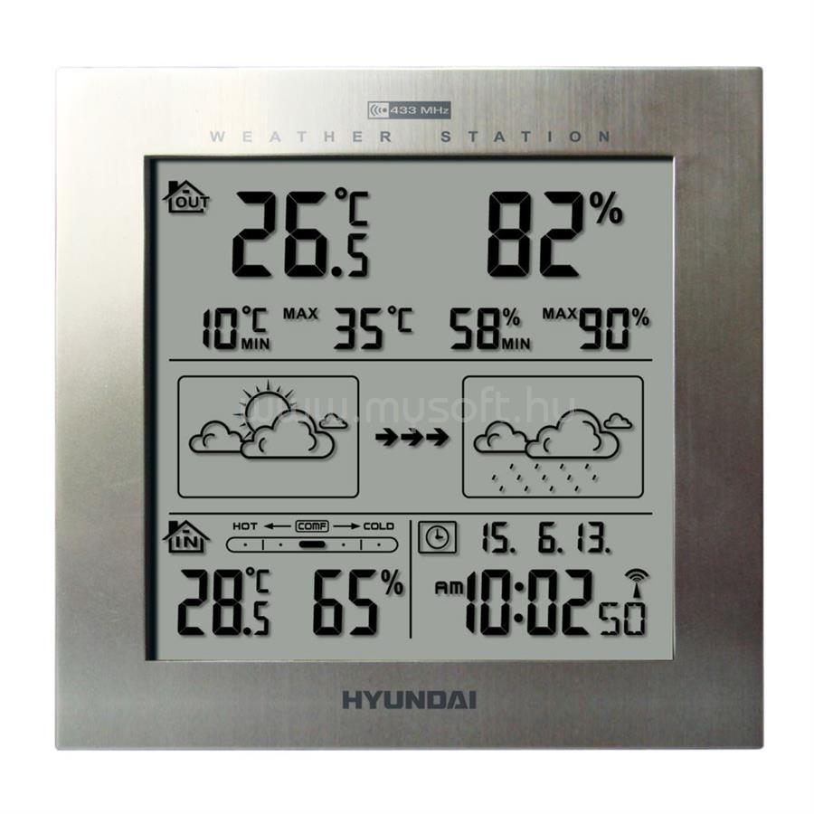 HYUNDAI WS2244M időjárás állomás ezüst