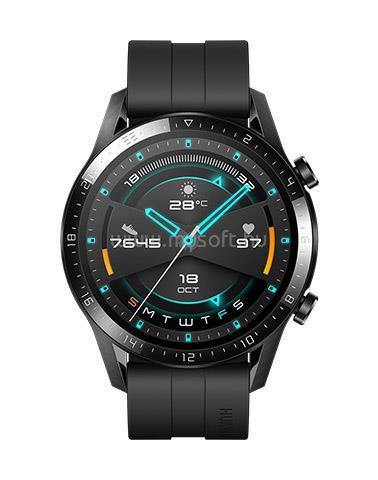 HUAWEI Watch GT 2 Okosóra, 46 mm, Fekete
