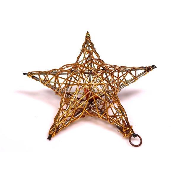 IRIS Csillag alakú 15cm/arany színű festett fém dekoráció