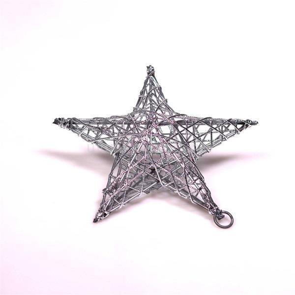 IRIS Csillag alakú 15cm/ezüst színű festett fém dekoráció