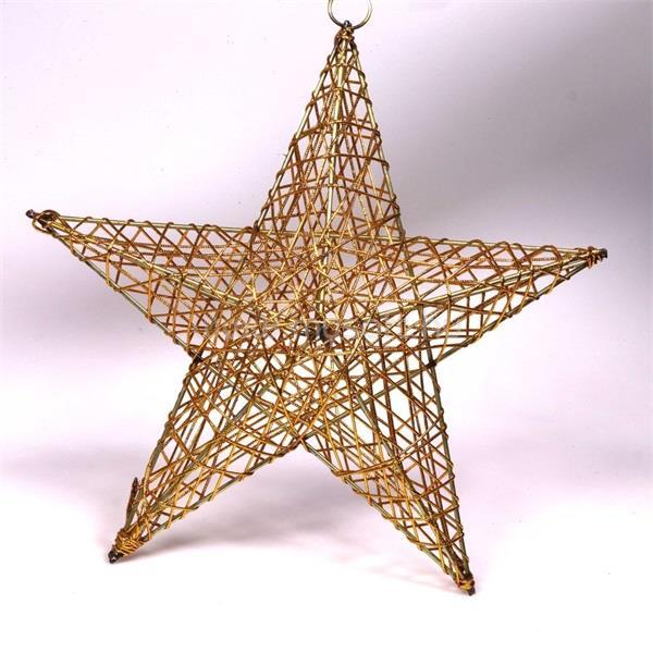 IRIS Csillag alakú 30cm/arany színű festett fém dekoráció