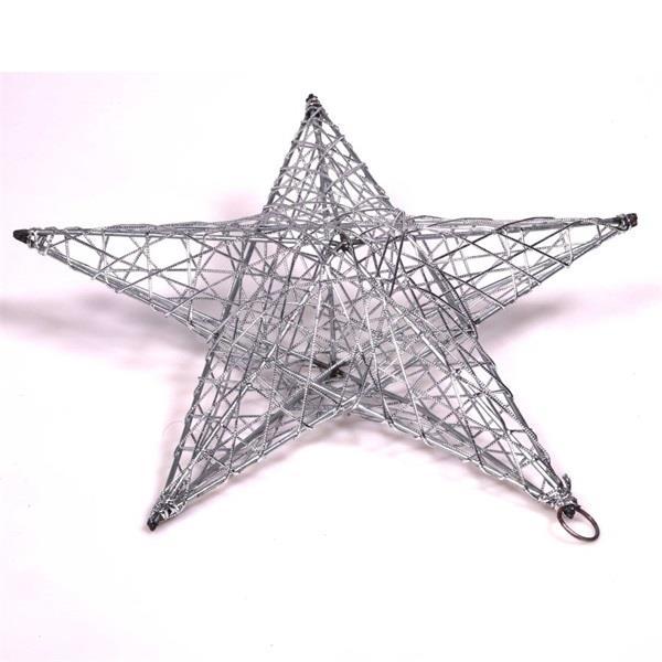 IRIS Csillag alakú 30cm/ezüst színű festett fém dekoráció