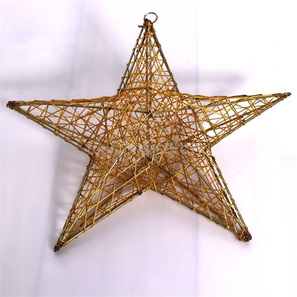 IRIS Csillag alakú 40cm/arany színű festett fém dekoráció