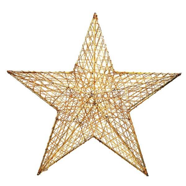 IRIS Csillag alakú 52cm/arany színű festett fém dekoráció
