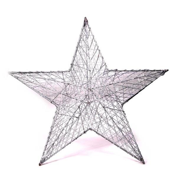 IRIS Csillag alakú 52cm/ezüst színű festett fém dekoráció