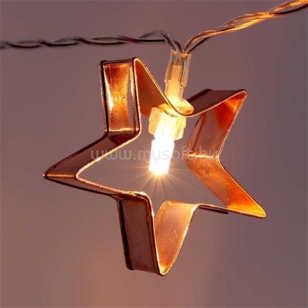 IRIS Csillag alakú fém 2m/meleg fehér/10db LED-es/3xAA elemes fénydekoráció