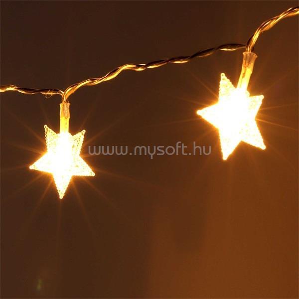 IRIS Csillag alakú fix fényű/3m/meleg fehér/10db LED-es USB-s fénydekoráció