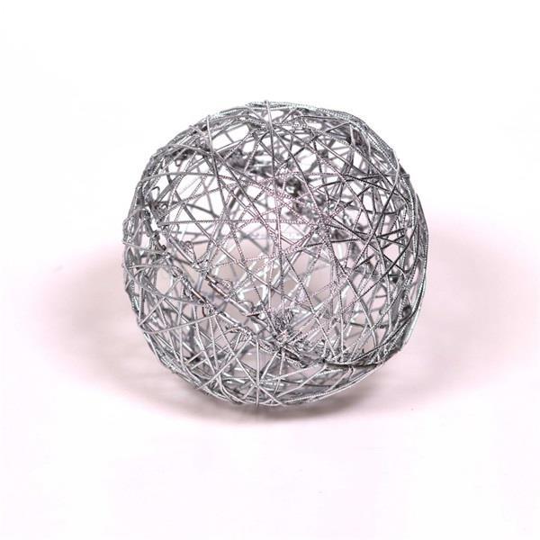 IRIS Gömb alakú 15cm/ezüst színű festett fém dekoráció