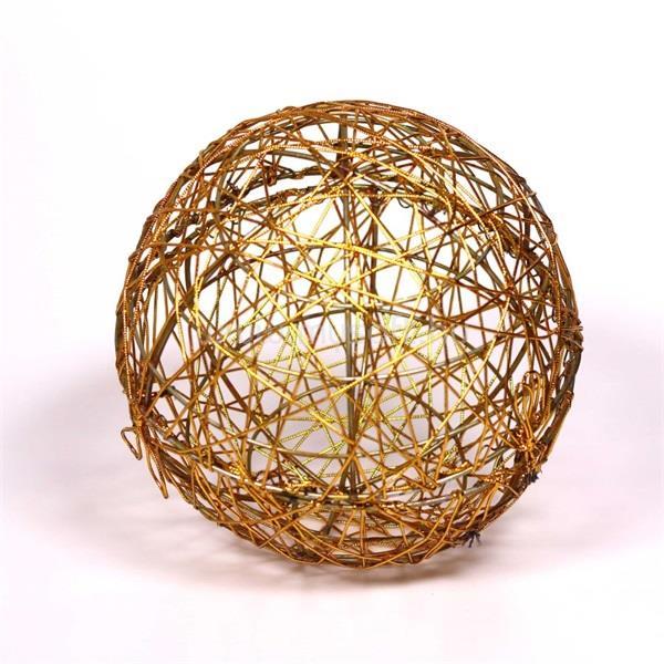 IRIS Gömb alakú 20cm/arany színű festett fém dekoráció