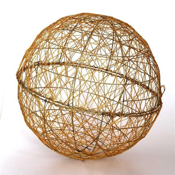 IRIS Gömb alakú 30cm/arany színű festett fém dekoráció