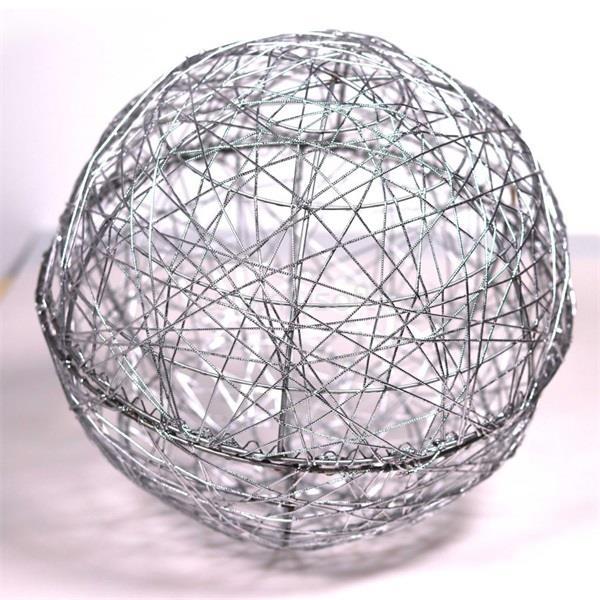 IRIS Gömb alakú 30cm/ezüst színű festett fém dekoráció