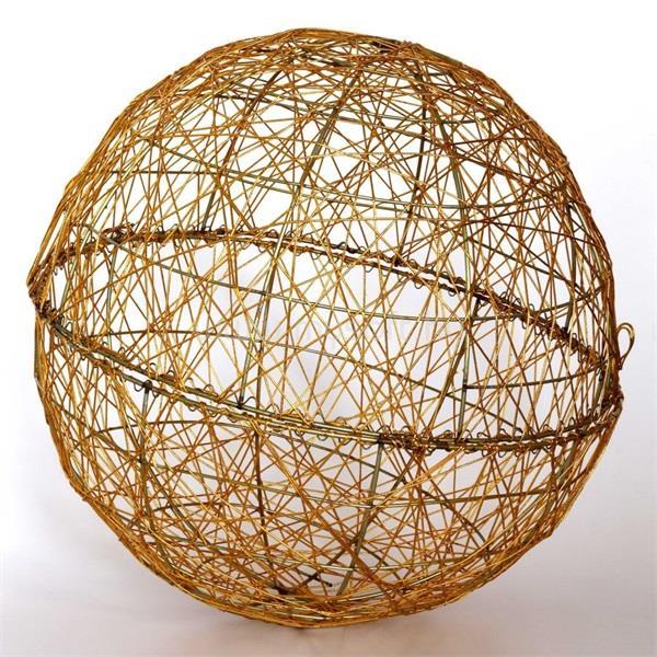 IRIS Gömb alakú 40cm/arany színű festett fém dekoráció