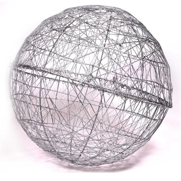 IRIS Gömb alakú 40cm/ezüst színű festett fém dekoráció