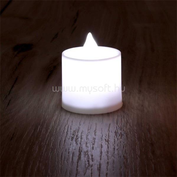 IRIS Gyertya alakú fix fényű LED-es fehér fénydekoráció 4db/csomag