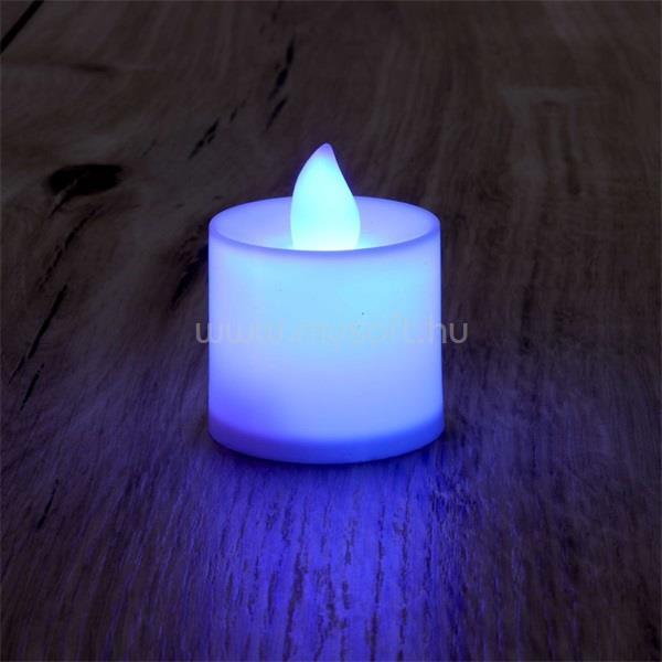 IRIS Gyertya alakú fix fényű LED-es lila fénydekoráció 4db/csomag