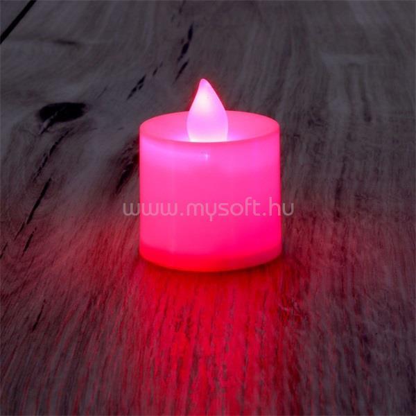 IRIS Gyertya alakú fix fényű LED-es piros fénydekoráció 4db/csomag