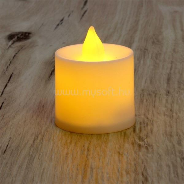 IRIS Gyertya alakú fix fényű LED-es sárga fénydekoráció 4db/csomag