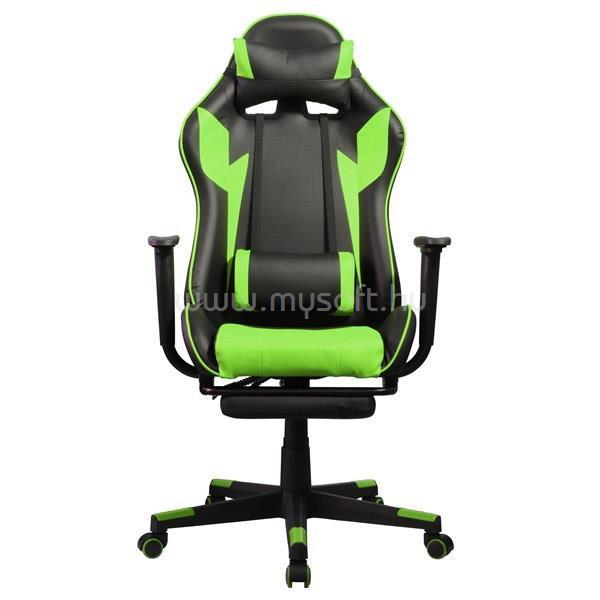 IRIS GCH204BE_FT Gamer szék (fekete/zöld)