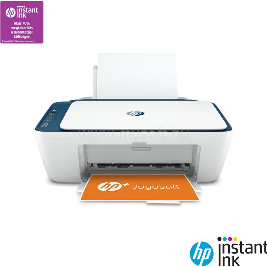 HP DeskJet 2721E színes multifunkciós HP+ tintasugaras nyomtató 6 hónap Instant Ink próbaidőszakkal