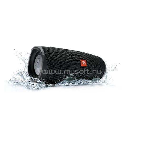 JBL Charge 4 hordozható vízálló Bluetooth hangszóró (fekete)