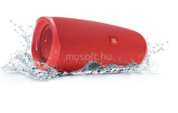 JBL Charge 4 hordozható vízálló Bluetooth hangszóró (piros)