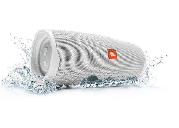 JBL Charge 4 hordozható vízálló Bluetooth hangszóró (fehér)