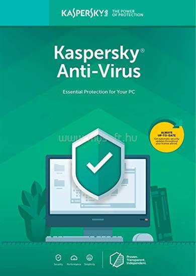 KASPERSKY Antivirus HUN 3 felhasználó/1 éves licenc megújítás (e-licenc)