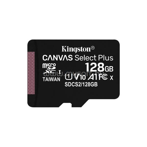 KINGSTON Canvas Select Plus MicroSDXC memóriakártya 128GB, Class10
