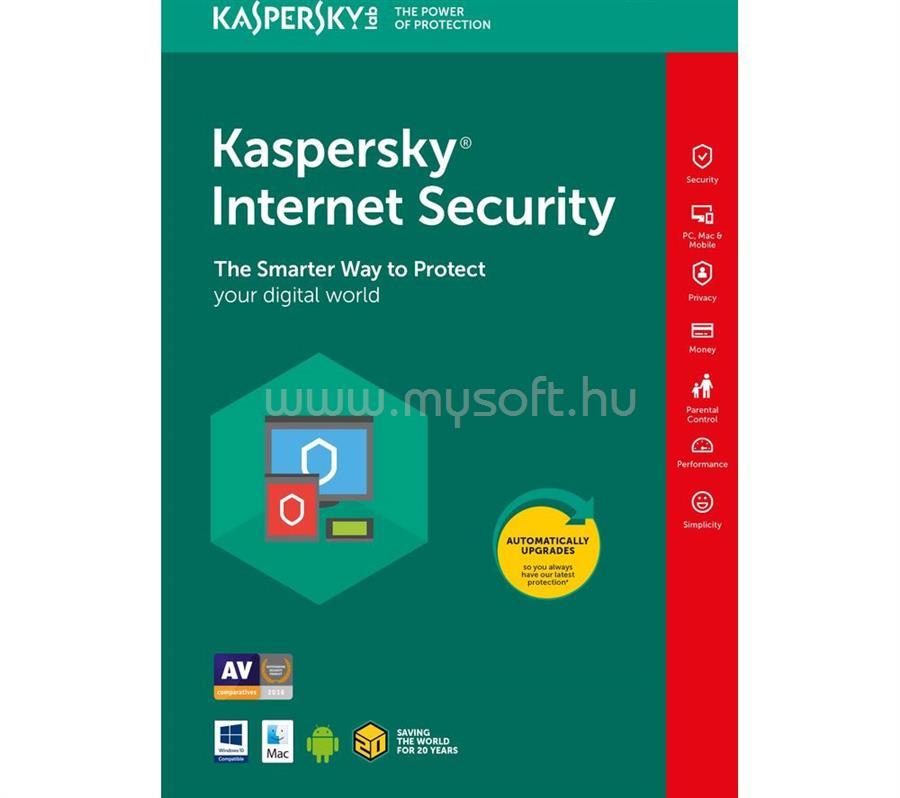 KASPERSKY Internet Security HUN 1 felhasználó/1 év vírusirtó szoftver (e-licenc)