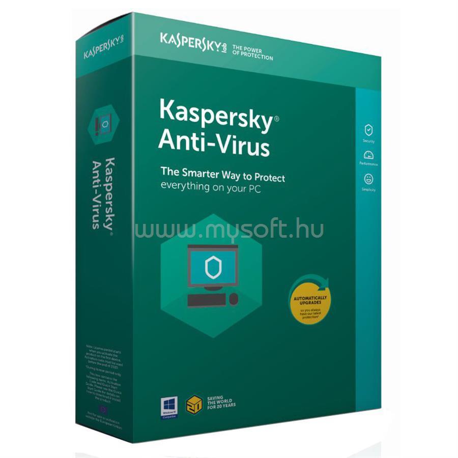 KASPERSKY Antivirus 2018 HUN 1 géphez 1 éves licenc