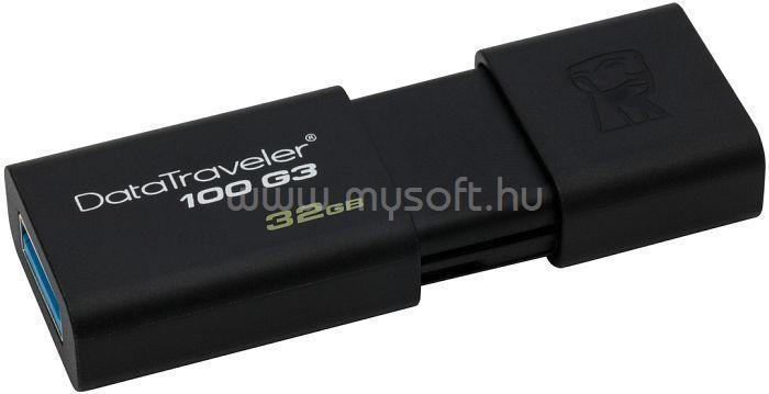 KINGSTON DataTraveler 100 G3 Pendrive 32GB USB3.0 (fekete)