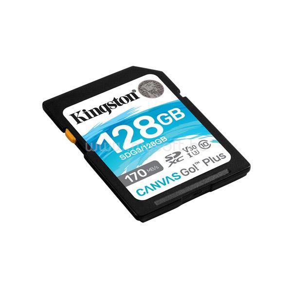 KINGSTON Memóriakártya SDXC 128GB Canvas Go Plus 170R C10 UHS-I U3 V30