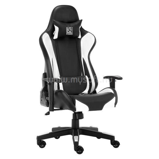 LC POWER LC-GC-600BW Gaming szék - Fekete/Fehér