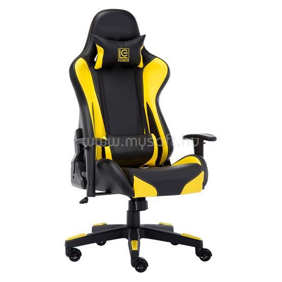 LC POWER LC-GC-600BY Gaming szék - Fekete/Sárga