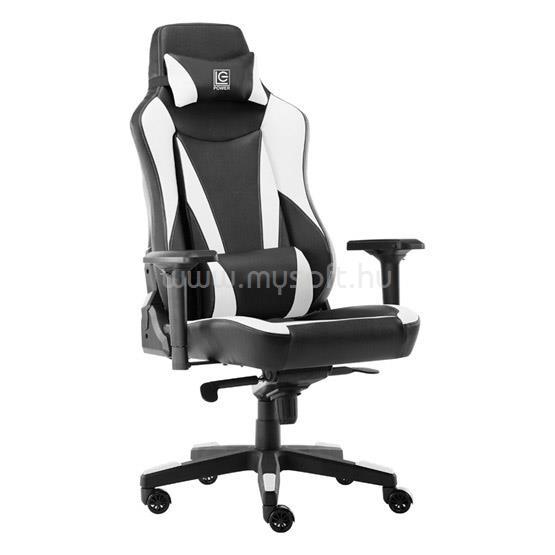 LC POWER GCN LC-GC-701BW Gaming szék - Fekete/Fehér