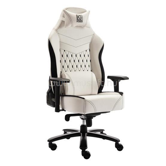 LC POWER LC-GC-800BW Gaming szék - Fekete/Fehér
