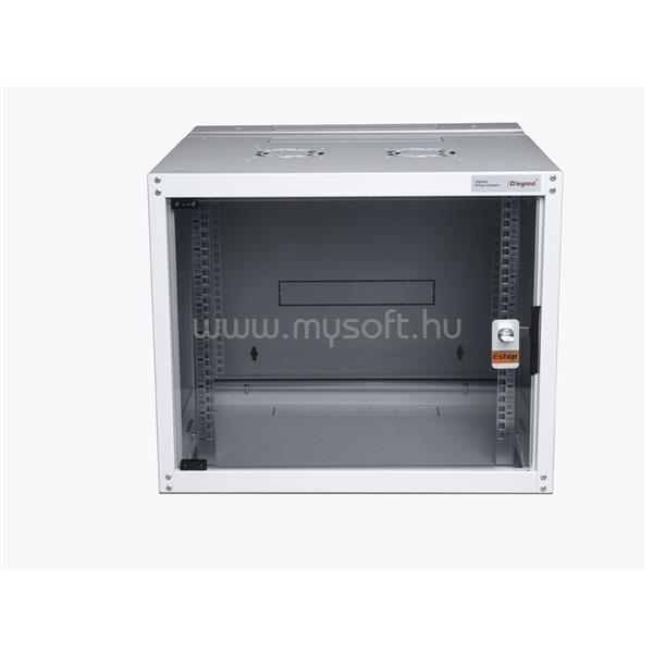 LEGRAND hálózati rackszekrény, 19`  7U SZÉL: 600 MÉLY: 600 MAG: 405 szürke egyrészes, üvegajtós készre szerelt MAX: 65