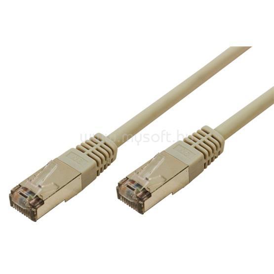 LOGILINK F/UTP Cat6 EconLine patch kábel - Szürke - 10m
