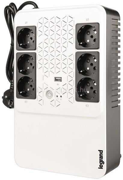 LEGRAND KEOR-M 800VA multimédiás szünetmentes elosztósor AVR, USB