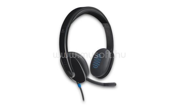 LOGITECH Fejhallgató H540 USB, Mikrofon