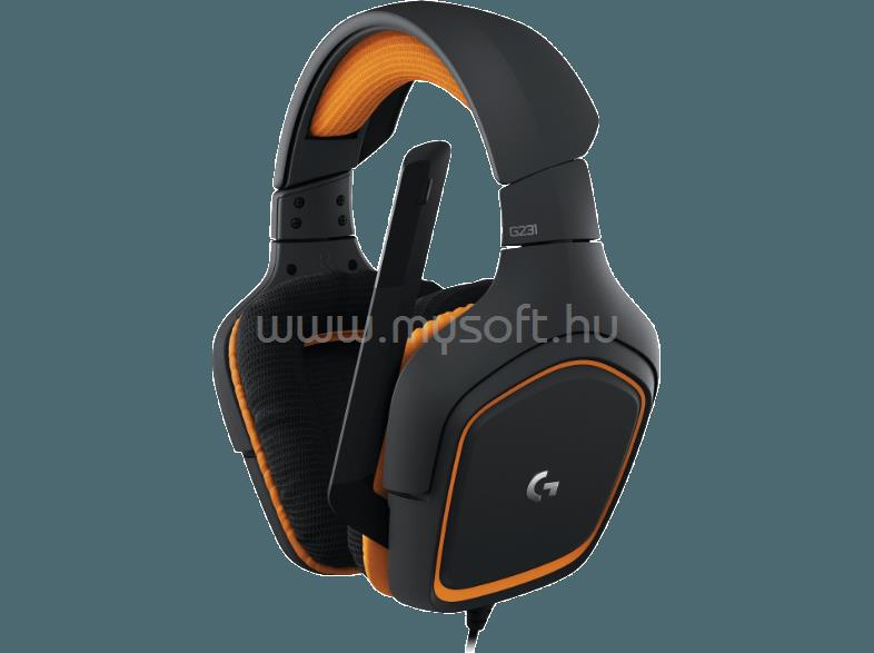Logitech G231 Prodigy Gamer Headset - Fekete narancs (981-000627 ... 2e5eba4d99