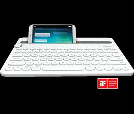 Logitech K480 Wireless Bluetooth Multi-Device Keyboard ENG - White, 920-006367