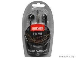 MAXELL fülhallgató EB-98 3.5mm Jack, fekete
