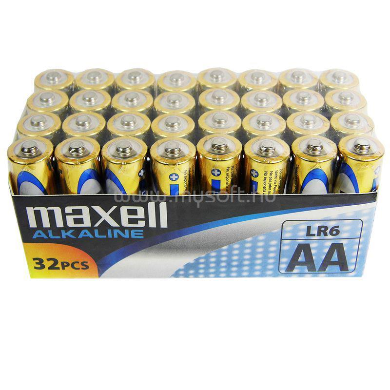 MAXELL Alkálielem LR-6 AA 32db-os