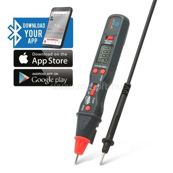 MAXWELL Smart Toll kivitelű digitális multiméter Bluetooth kapcsolattal