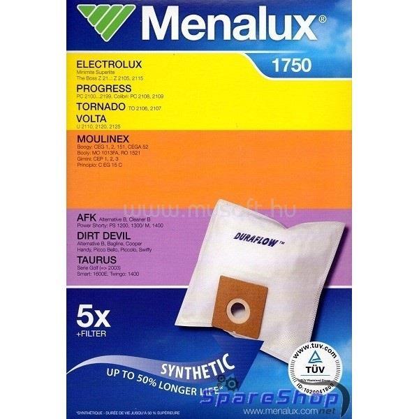MENALUX 1750 5 db szintetikus porzsák + 1 mikroszűrő